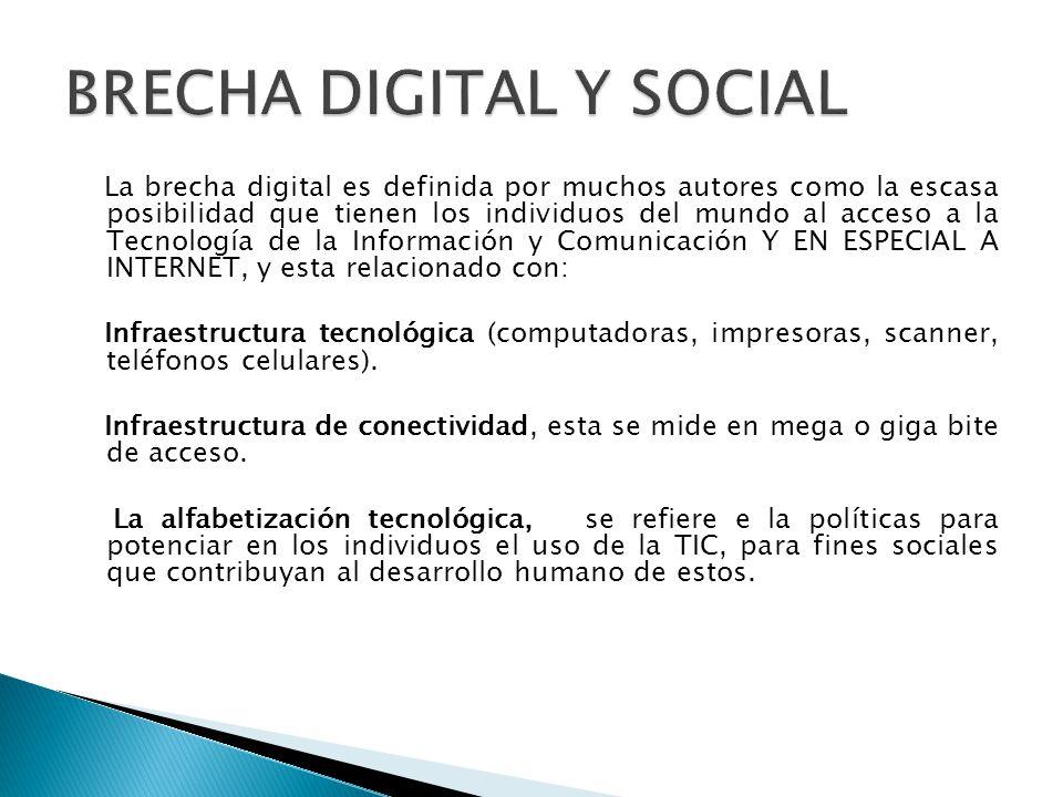 BRECHA DIGITAL Y SOCIAL