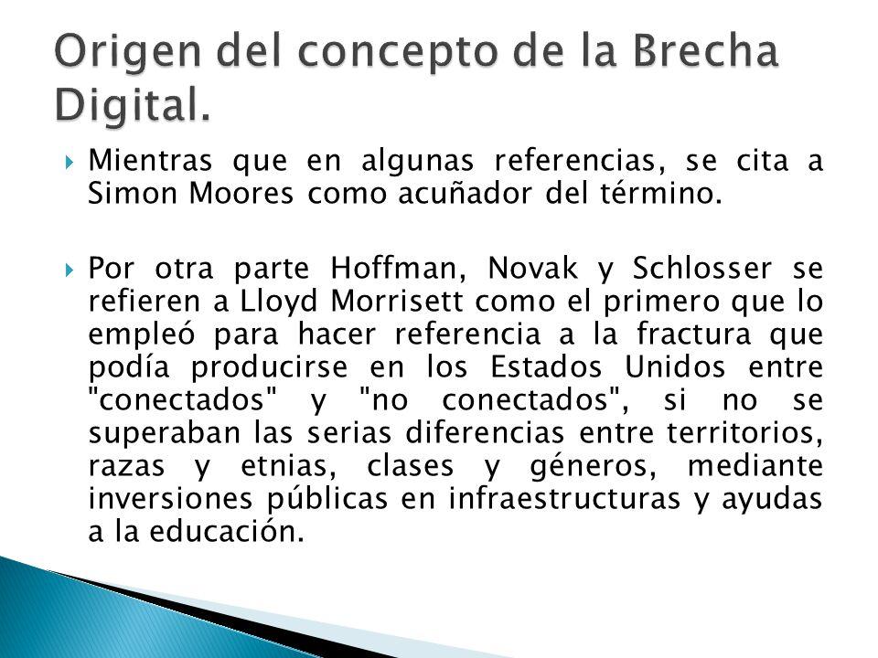 Origen del concepto de la Brecha Digital.