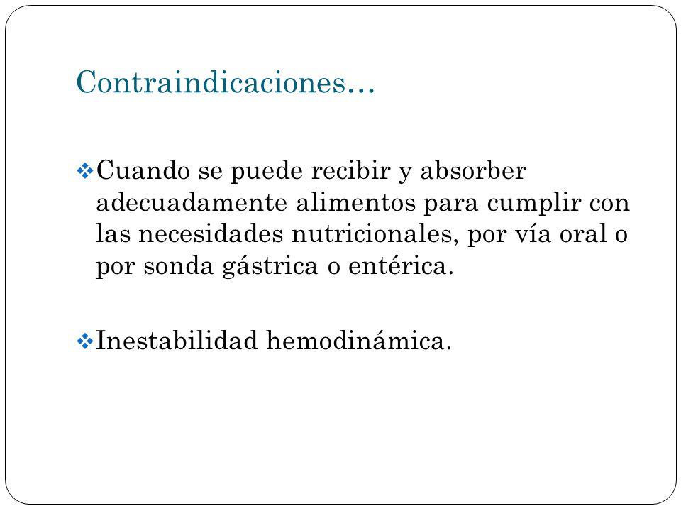 Contraindicaciones…