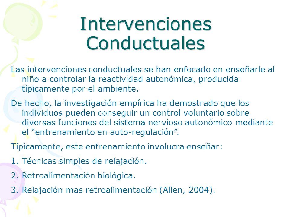 Intervenciones Conductuales