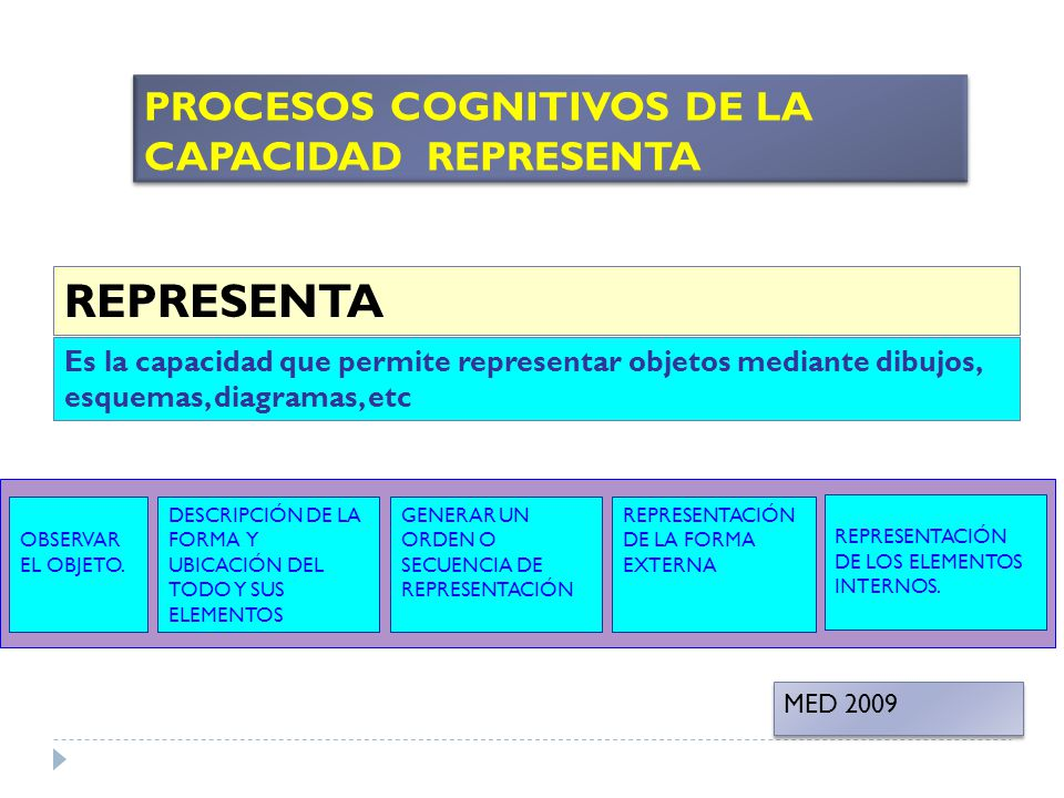 REPRESENTA PROCESOS COGNITIVOS DE LA CAPACIDAD REPRESENTA