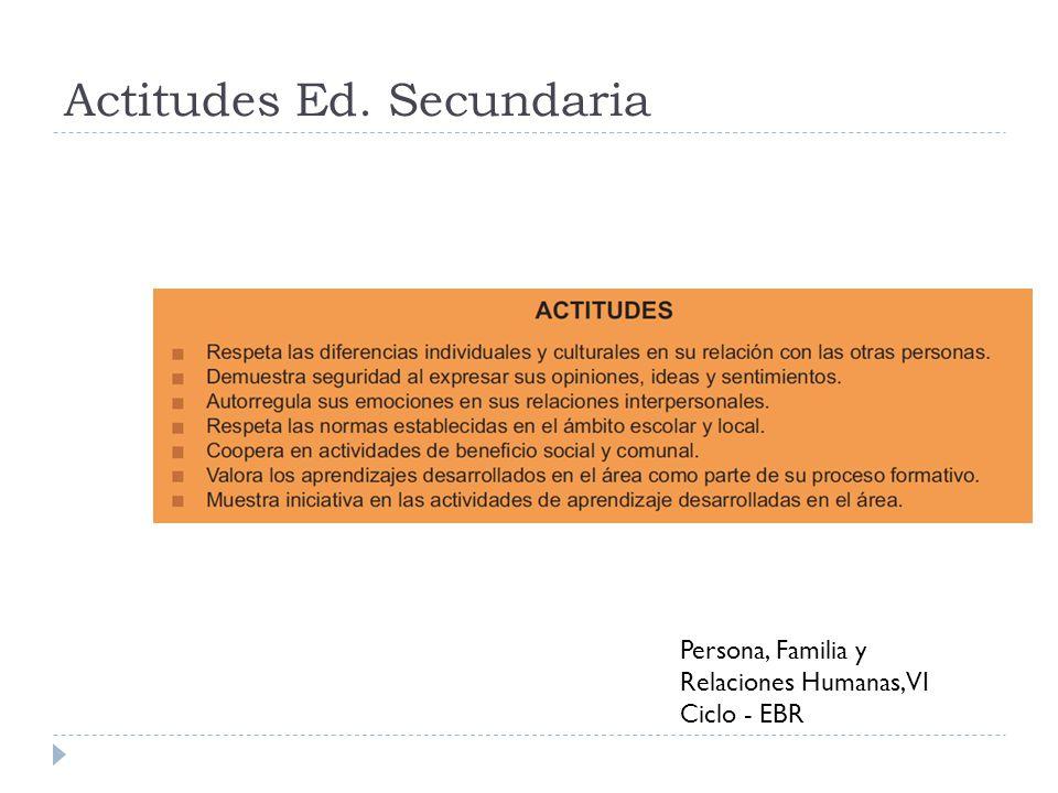 Actitudes Ed. Secundaria