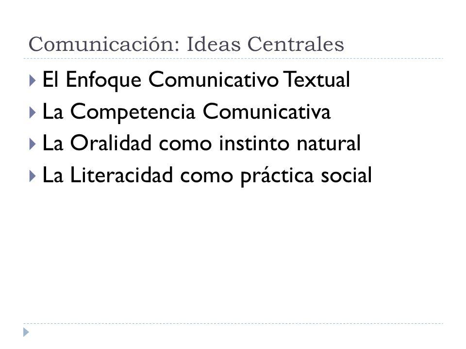 Comunicación: Ideas Centrales