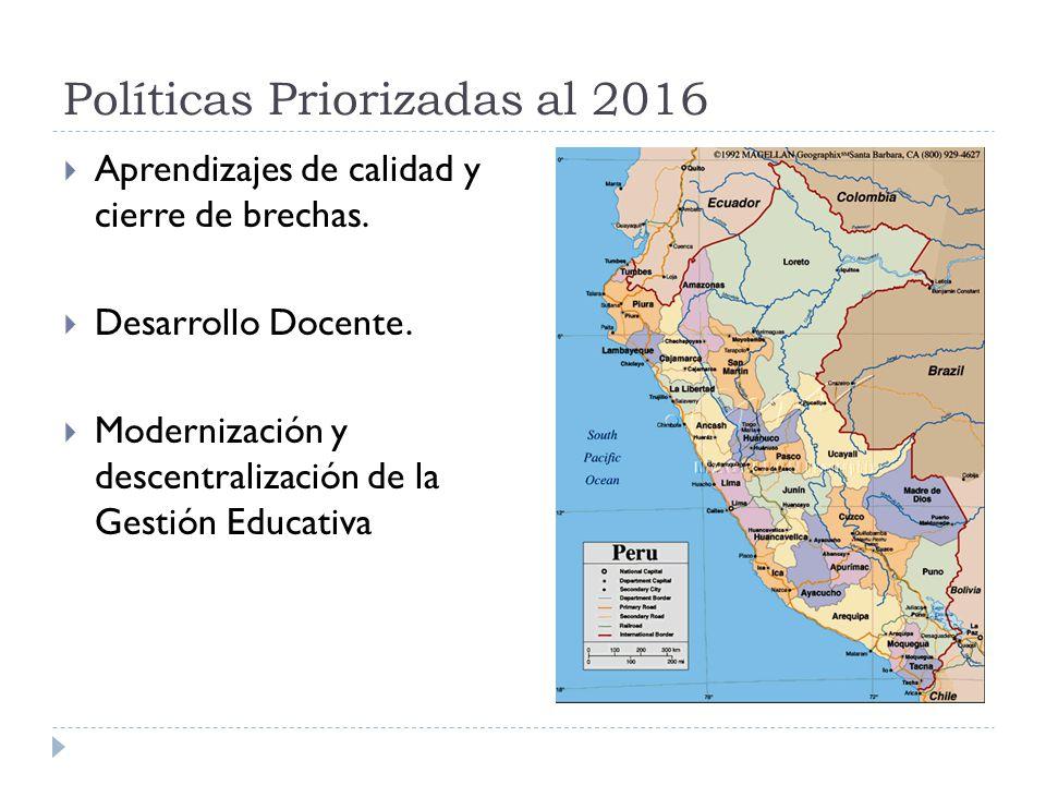 Políticas Priorizadas al 2016