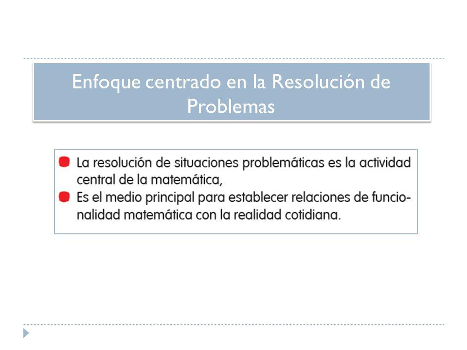 Enfoque centrado en la Resolución de Problemas