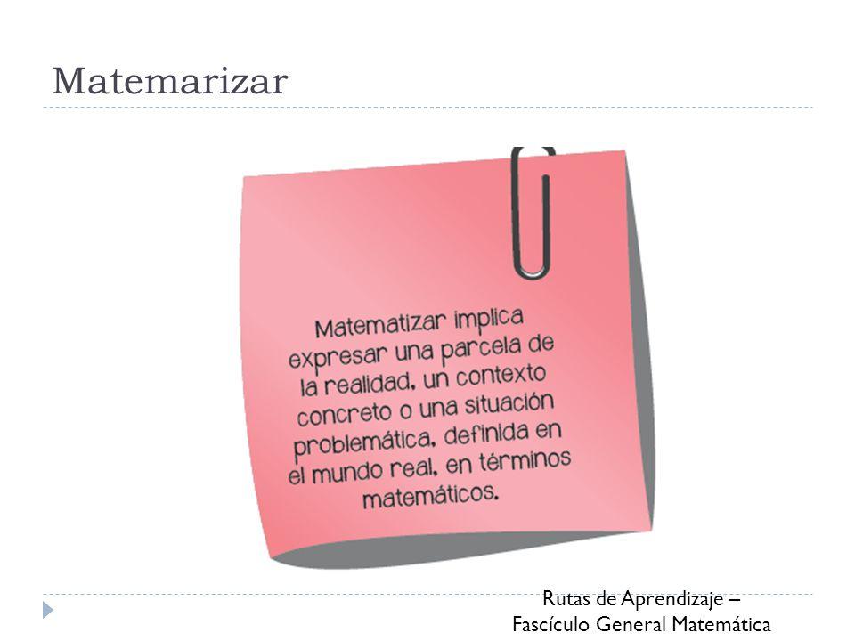 Rutas de Aprendizaje – Fascículo General Matemática