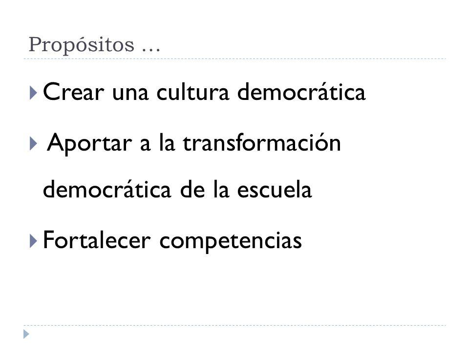 Crear una cultura democrática