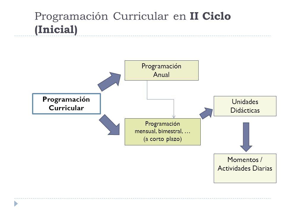 Programación Curricular en II Ciclo (Inicial)