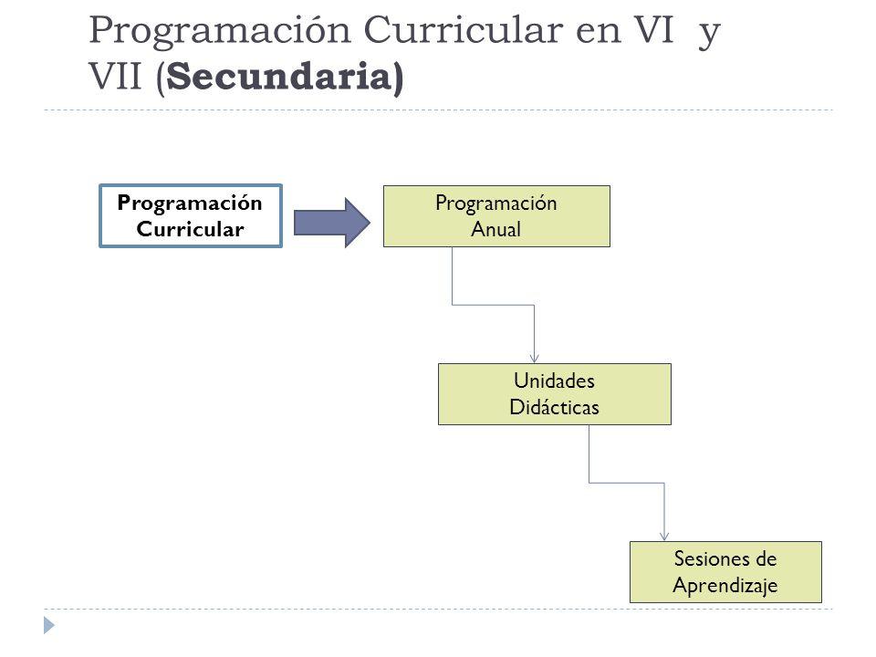 Programación Curricular en VI y VII (Secundaria)
