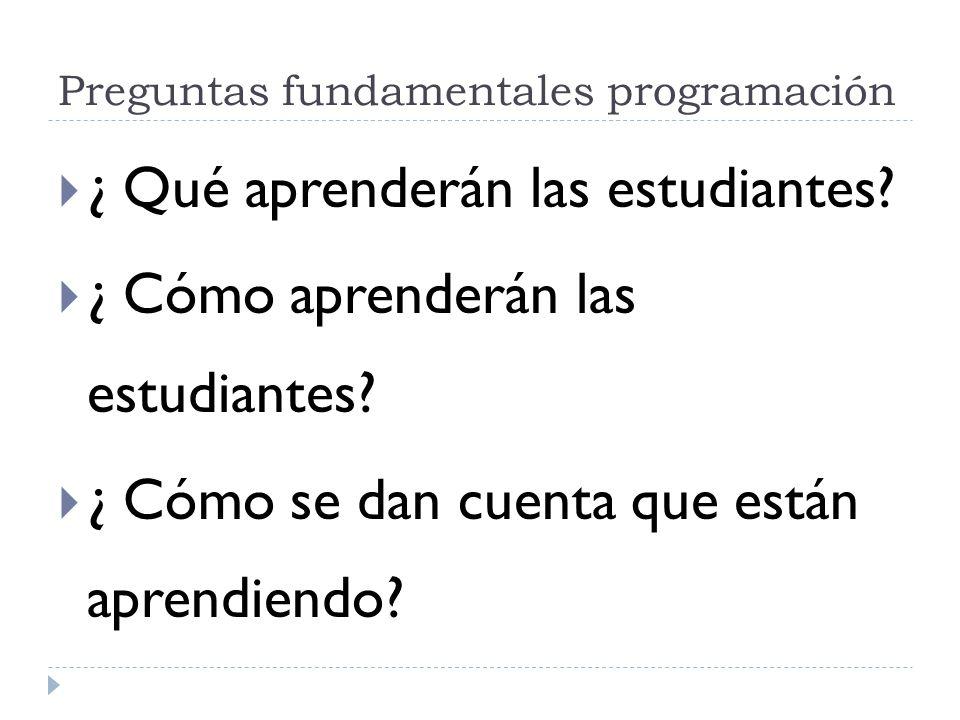 Preguntas fundamentales programación