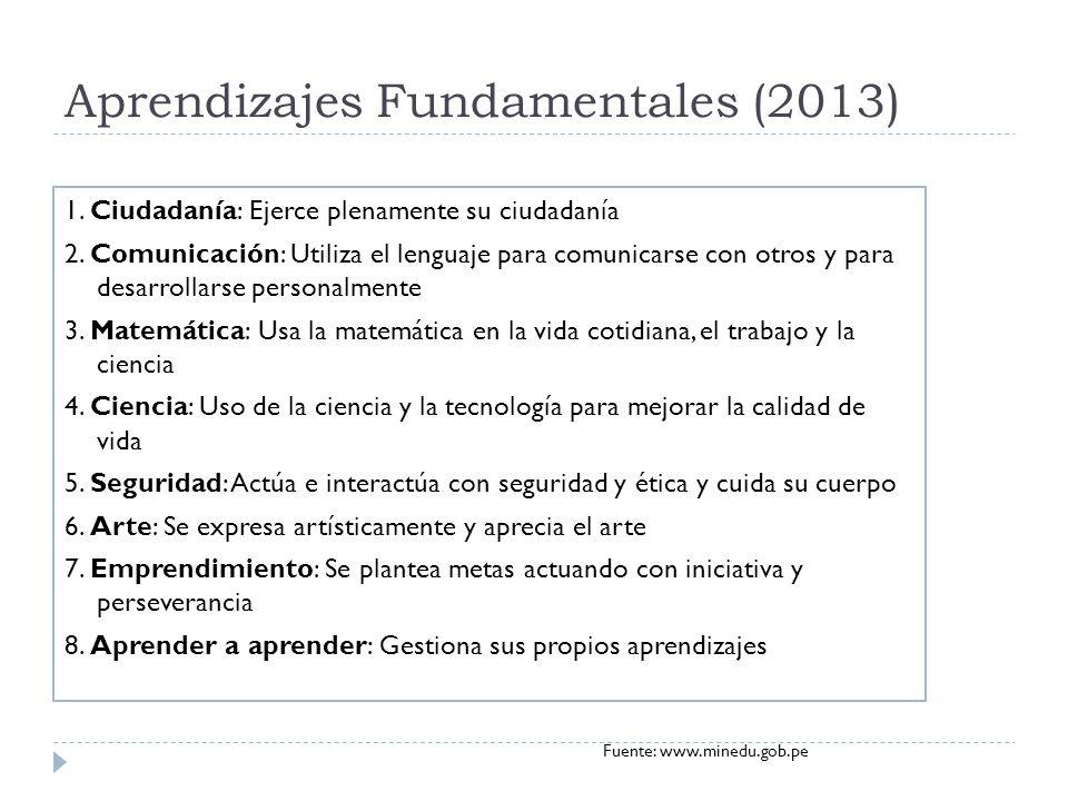 Aprendizajes Fundamentales (2013)