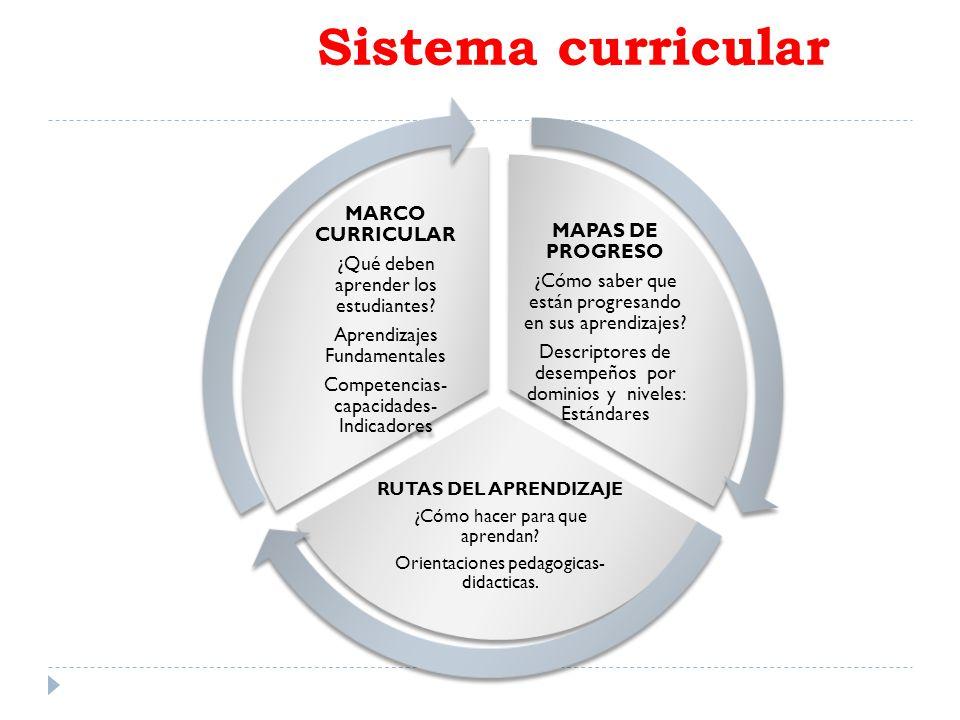 Sistema curricular MAPAS DE PROGRESO MARCO CURRICULAR