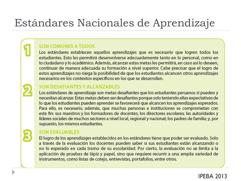 Estándares Nacionales de Aprendizaje
