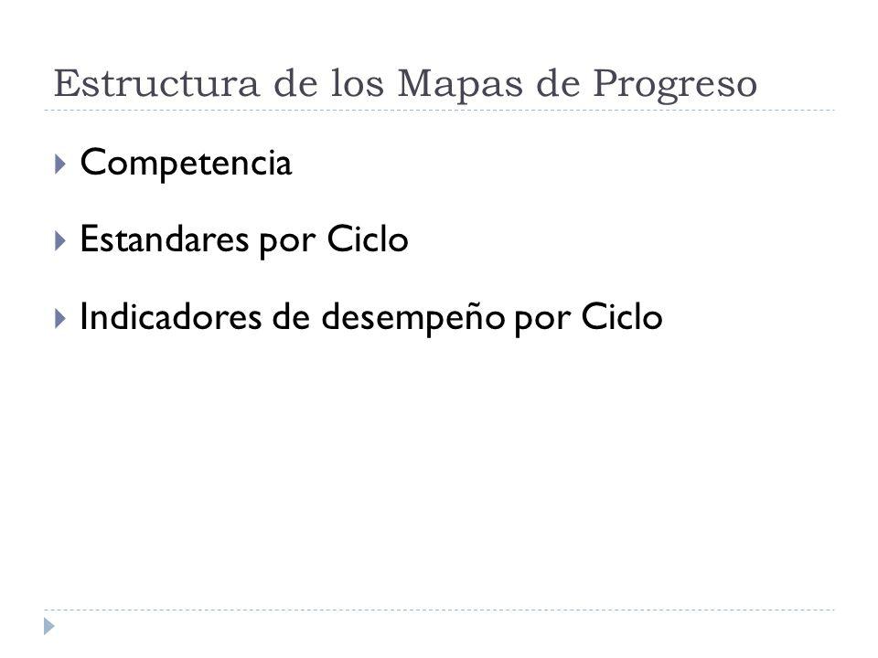 Estructura de los Mapas de Progreso