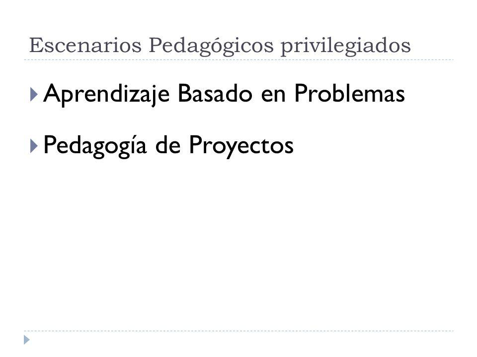 Escenarios Pedagógicos privilegiados