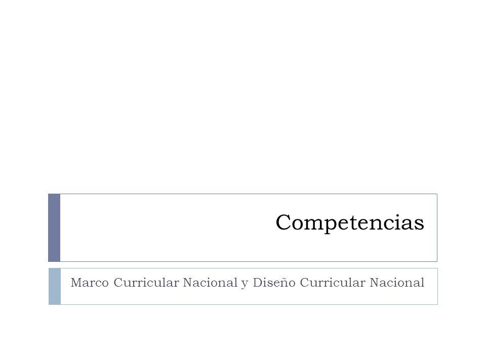 Marco Curricular Nacional y Diseño Curricular Nacional