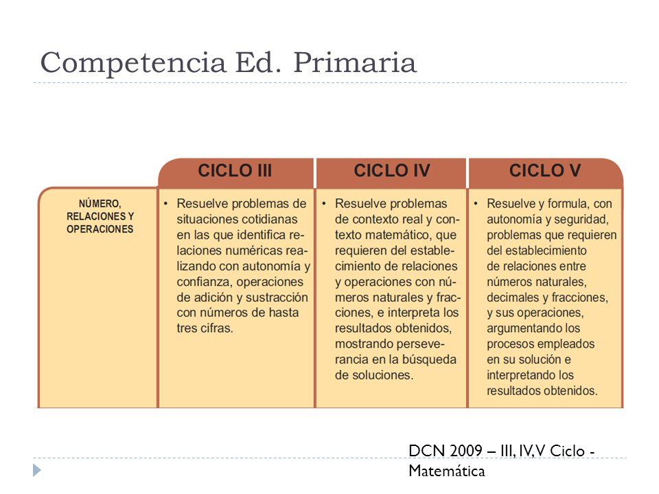 Competencia Ed. Primaria