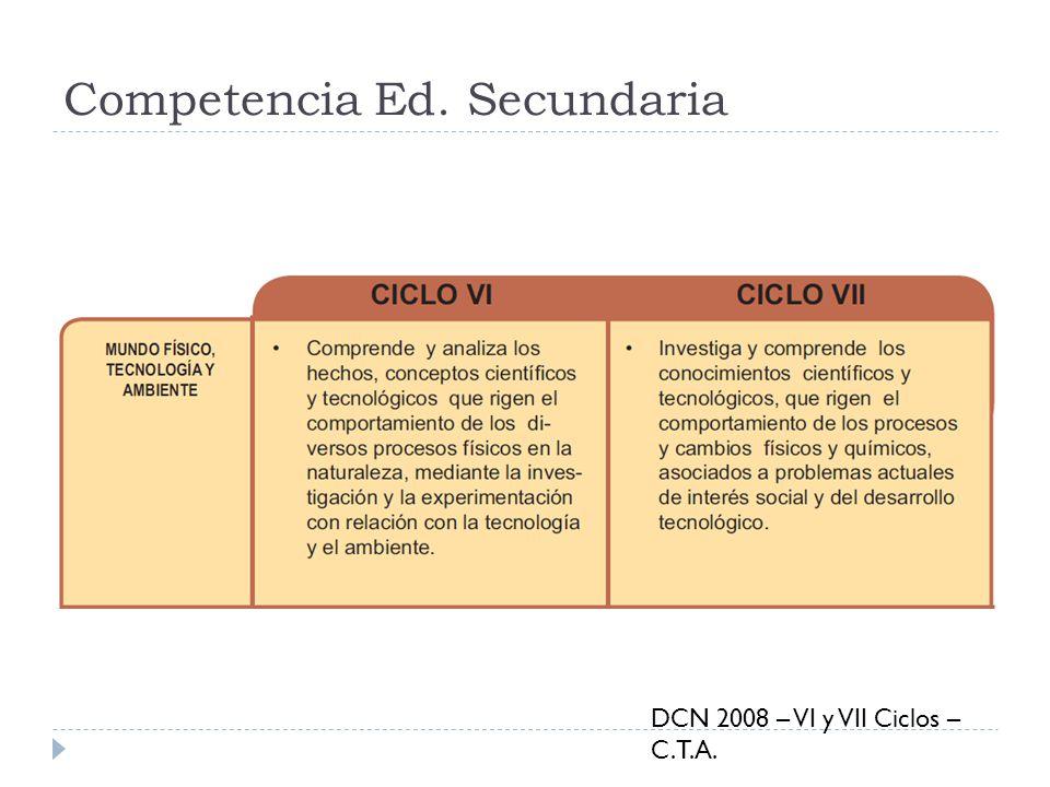 Competencia Ed. Secundaria