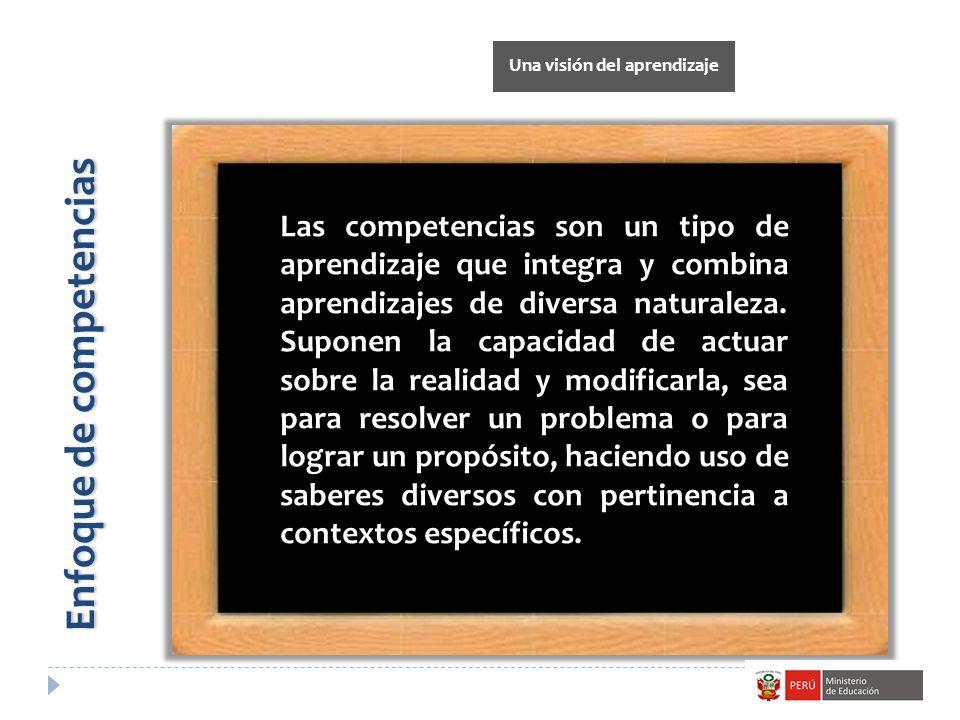 Una visión del aprendizaje Enfoque de competencias