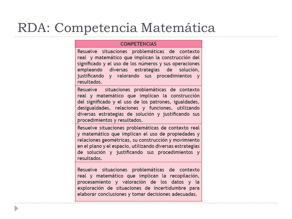 RDA: Competencia Matemática
