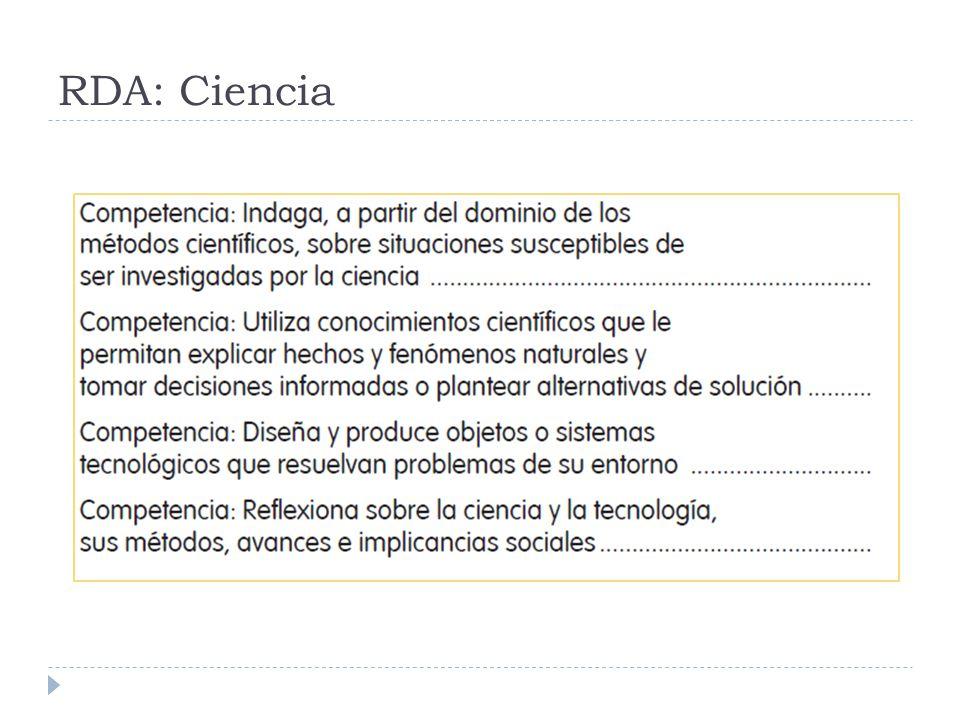 RDA: Ciencia