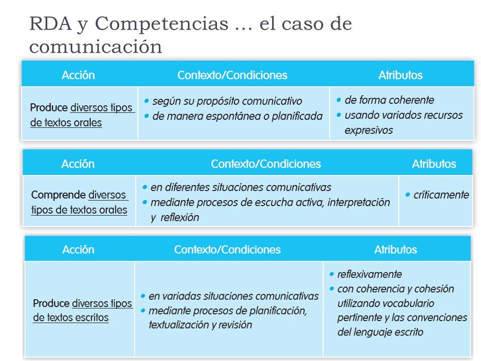 RDA y Competencias … el caso de comunicación