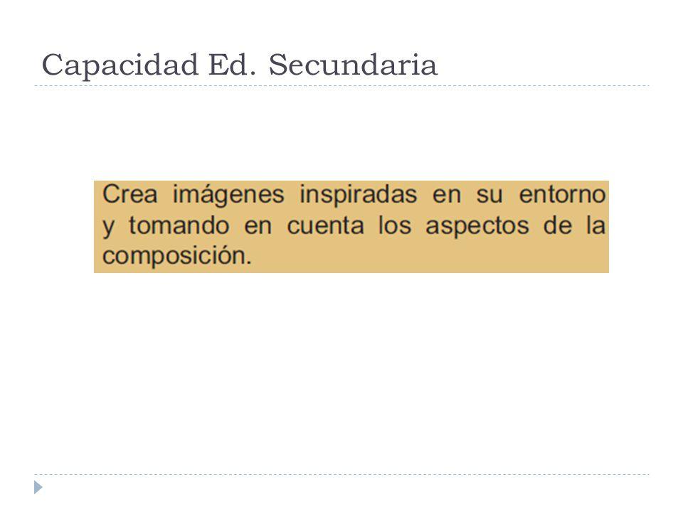Capacidad Ed. Secundaria
