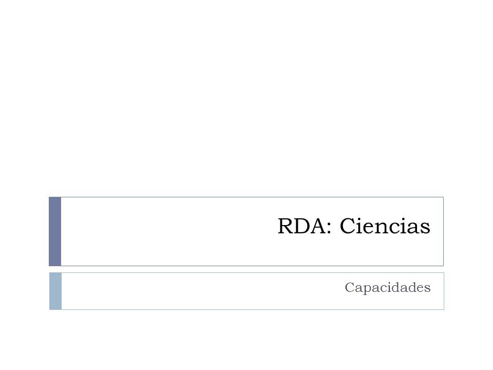 RDA: Ciencias Capacidades