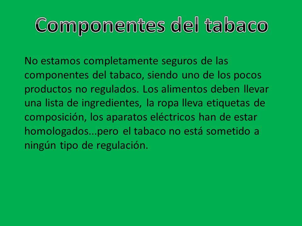 Componentes del tabaco