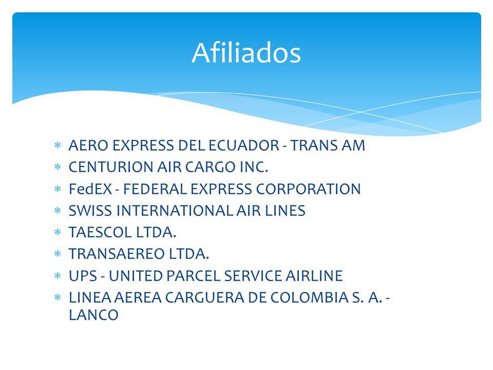 Afiliados AERO EXPRESS DEL ECUADOR - TRANS AM CENTURION AIR CARGO INC.