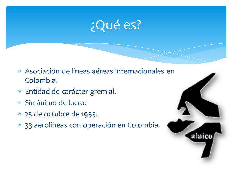 ¿Qué es Asociación de líneas aéreas internacionales en Colombia.