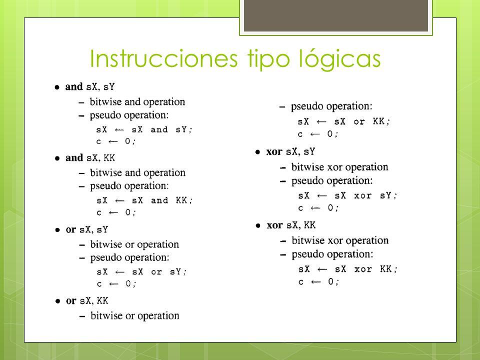 Instrucciones tipo lógicas