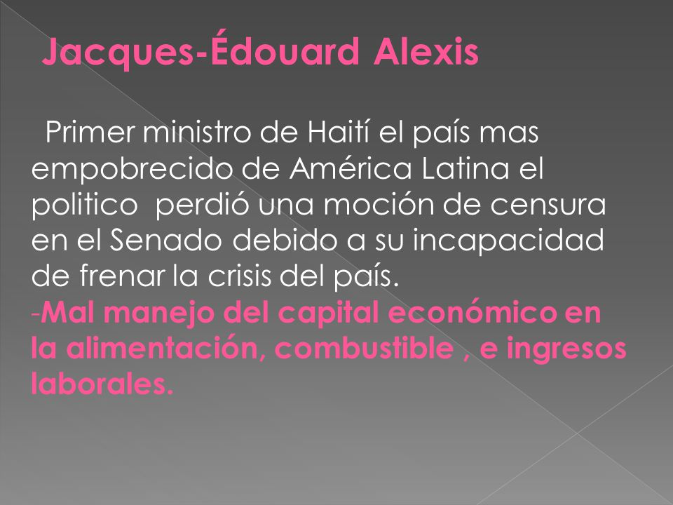 Jacques-Édouard Alexis