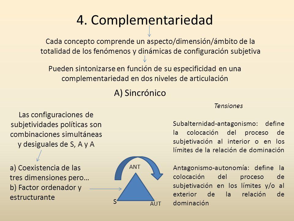 4. Complementariedad A) Sincrónico