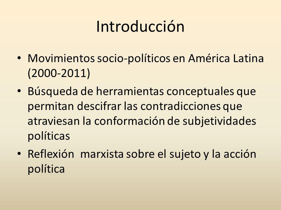 Introducción Movimientos socio-políticos en América Latina (2000-2011)