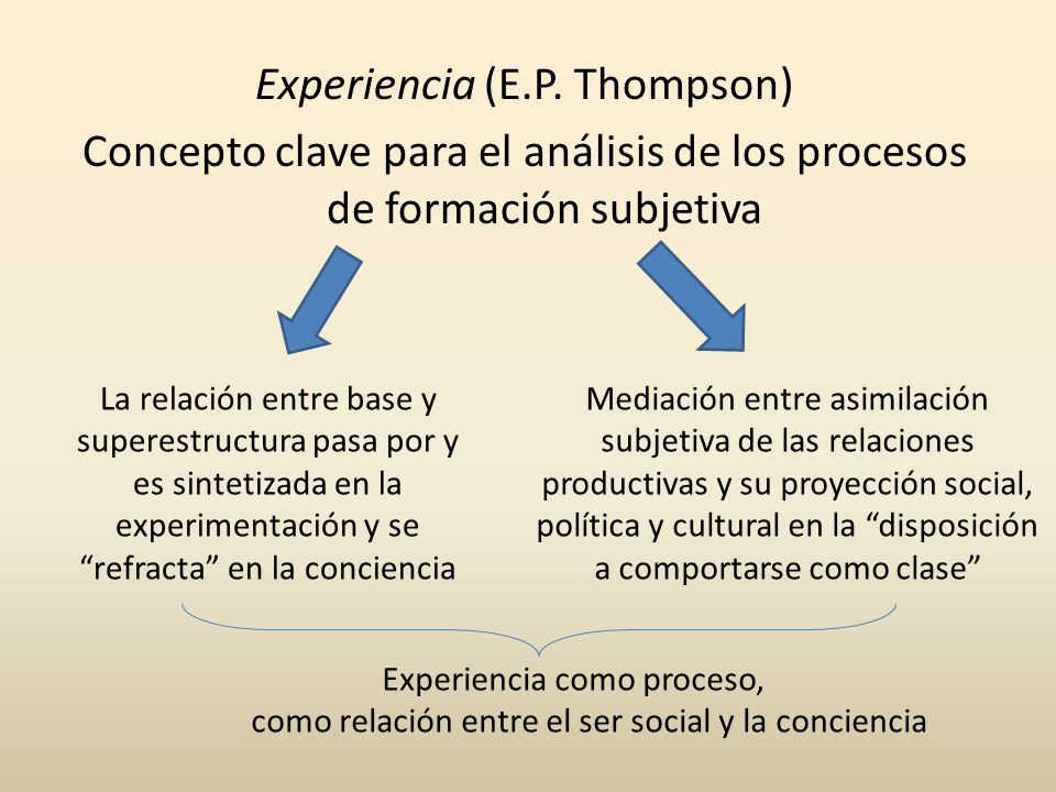 Experiencia como proceso,