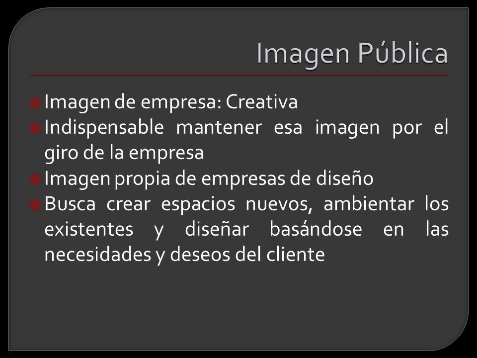 Imagen Pública Imagen de empresa: Creativa