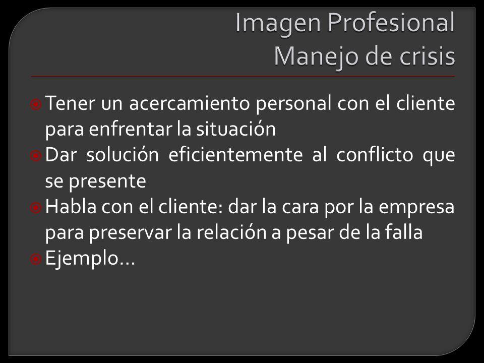 Imagen Profesional Manejo de crisis