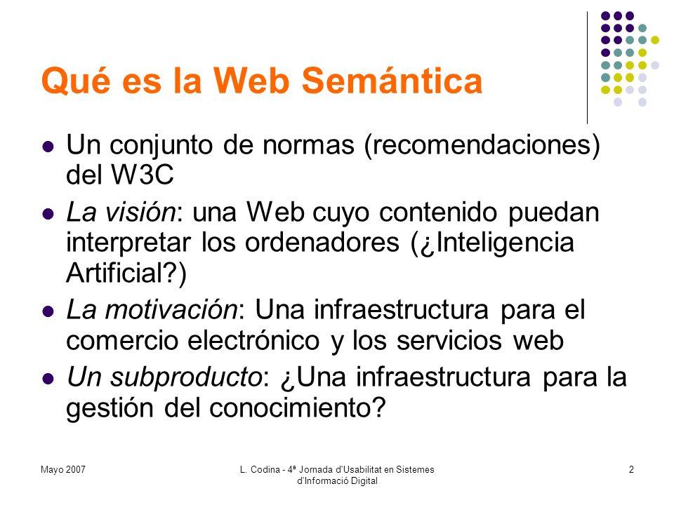 L. Codina - 4ª Jornada d Usabilitat en Sistemes d Informació Digital