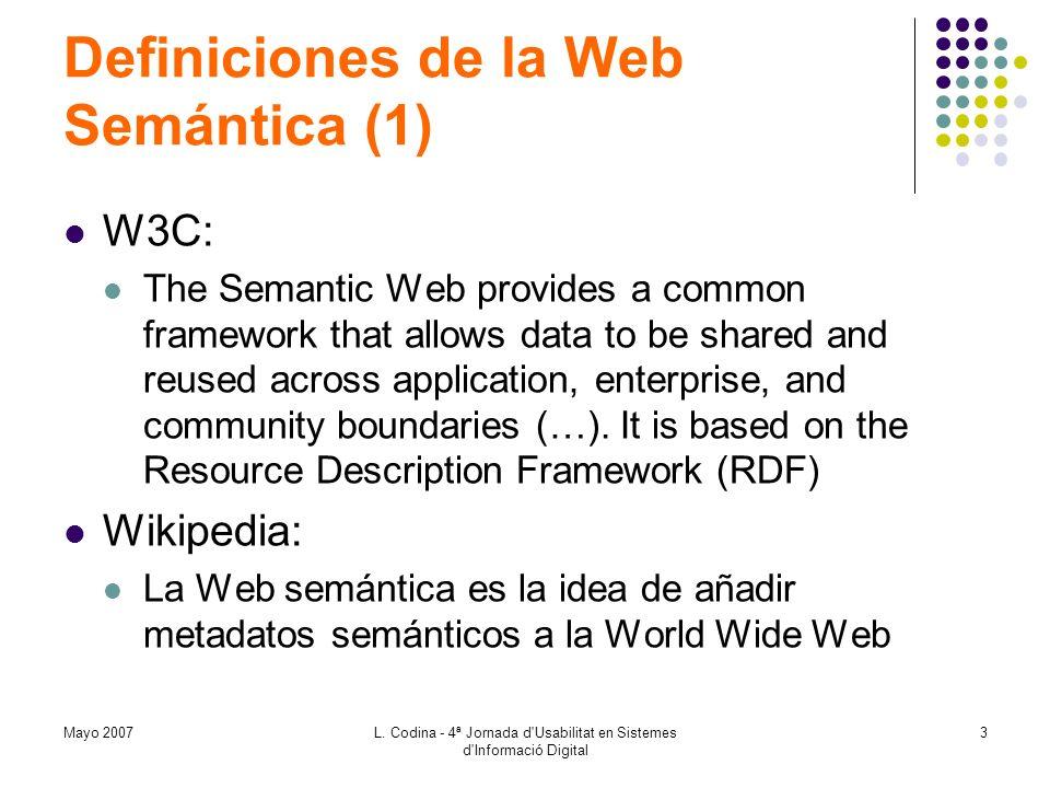 Definiciones de la Web Semántica (1)