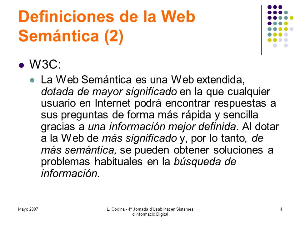 Definiciones de la Web Semántica (2)