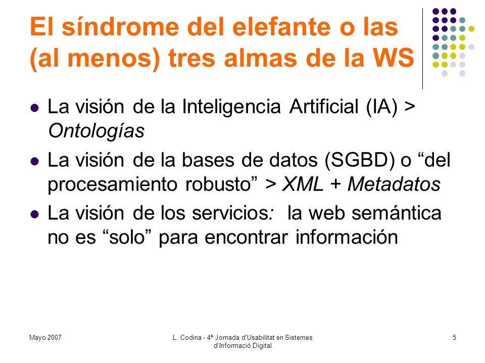 El síndrome del elefante o las (al menos) tres almas de la WS