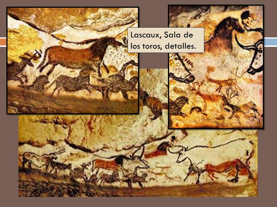 Lascaux, Sala de los toros, detalles.