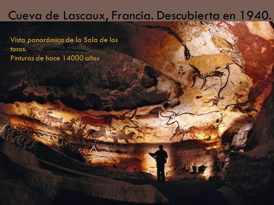 Cueva de Lascaux, Francia. Descubierta en 1940.