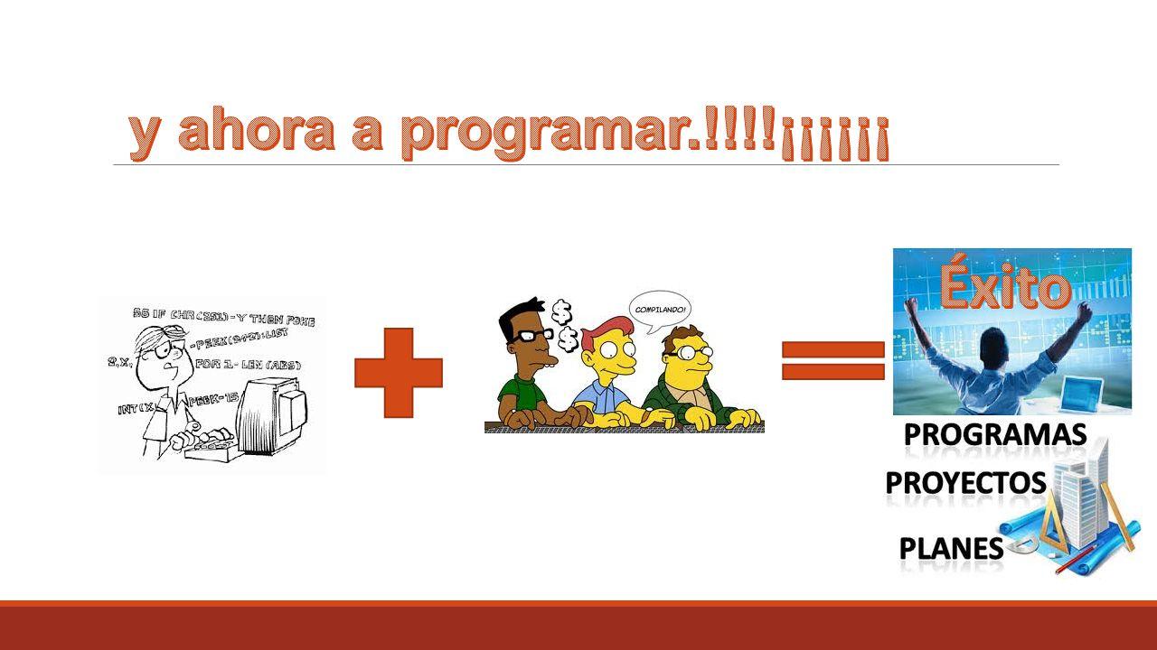 y ahora a programar.!!!!¡¡¡¡¡¡