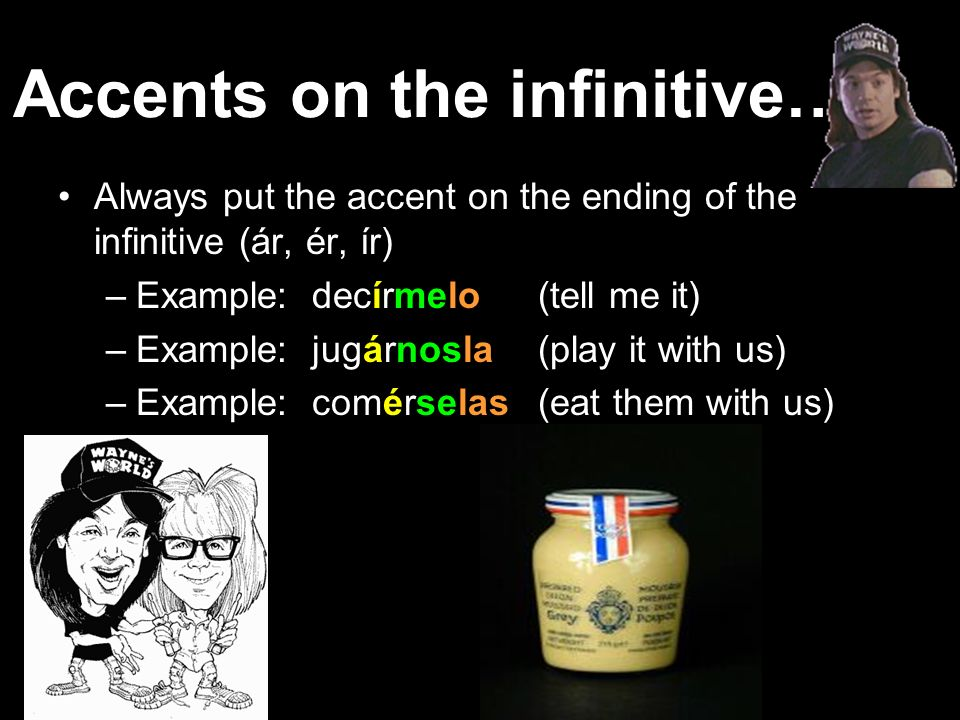 Accents on the infinitive…