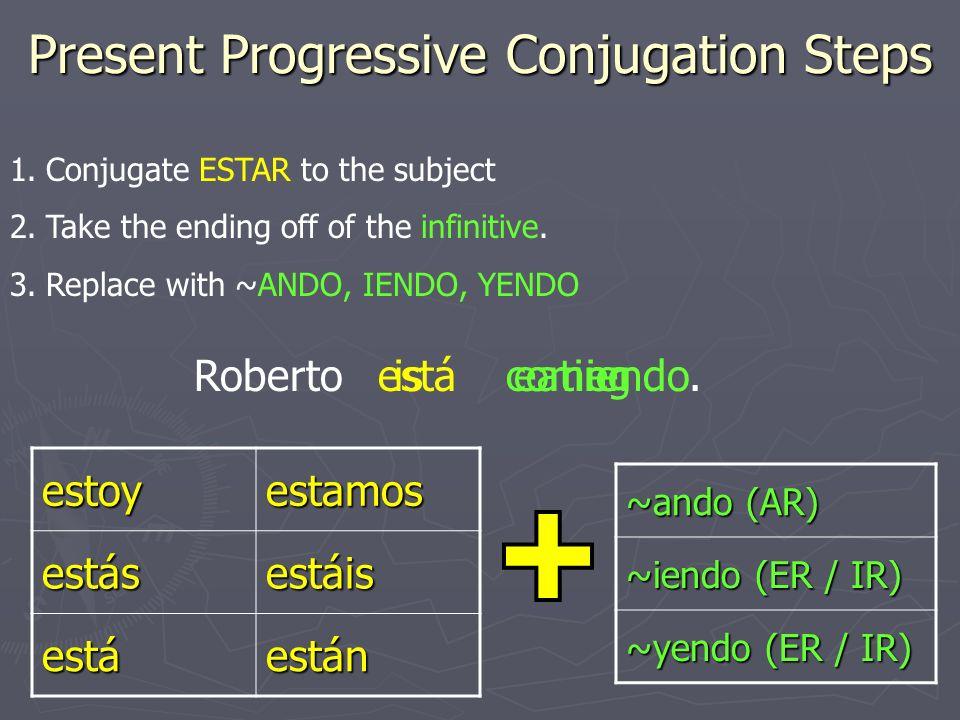 Present Progressive Conjugation Steps