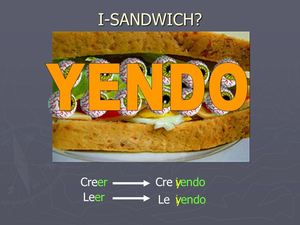 I-SANDWICH YENDO Creer Cre endo y i Leer Le endo i y