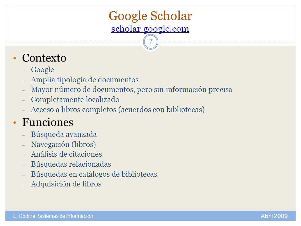 Google Scholar scholar.google.com