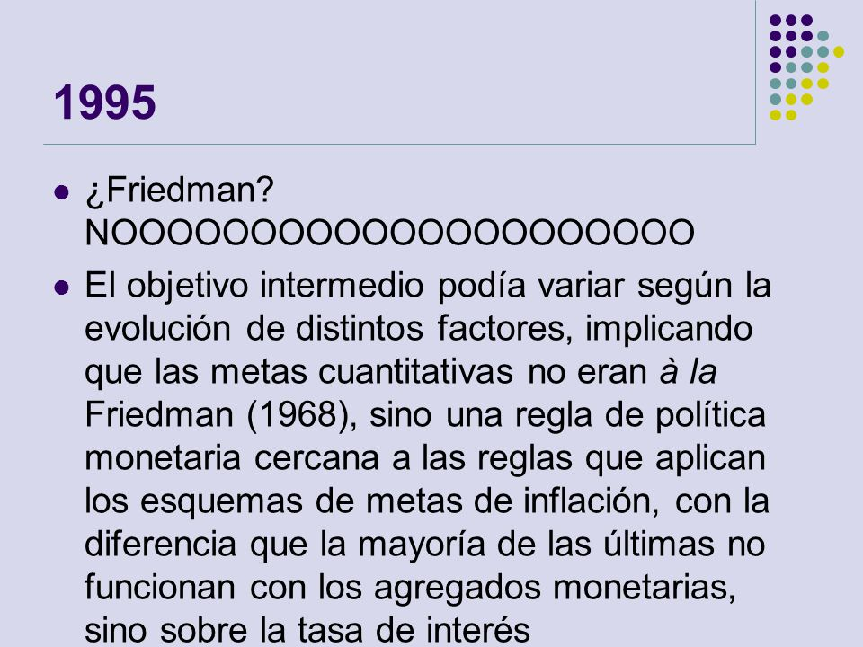 1995 ¿Friedman NOOOOOOOOOOOOOOOOOOOOO